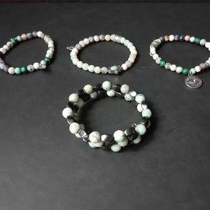 Jewelry - 4 assorted stone bracelets